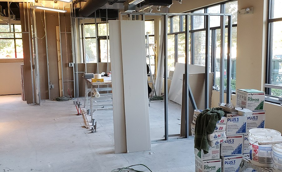 exam rooms during construction